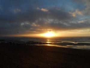 Kitesurfing Lancing Sunrise