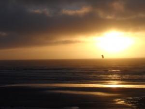 Kitesurfer Lancing